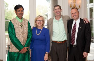 Prince Manvendra Singh Gohil, Kathy Taylor, Dennis R. Neill and Michael F. Smith, Equality Gala patron party.