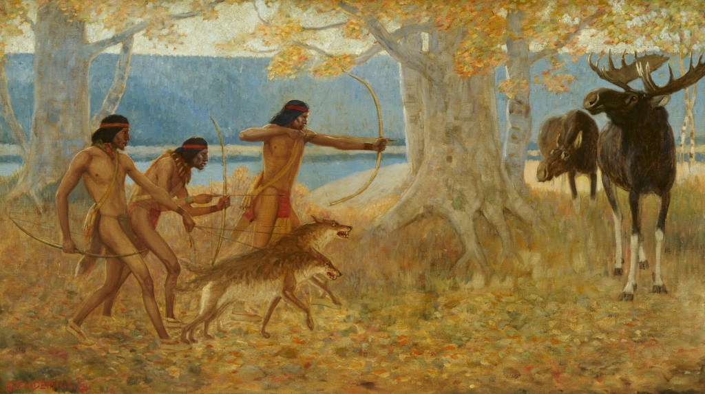 """Moose Hunt"" by Edwin Willard Deming. Image courtesy Gilcrease Museum."