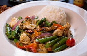 Spicy asparagus chicken at Mings Noodle Bar in Tulsa. Photo by Brandon Scott.