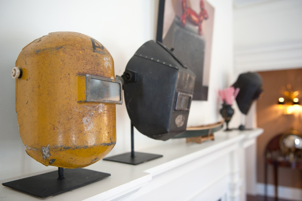 Functional welding masks make bold statements as art.
