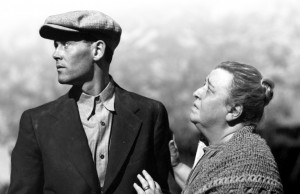 Henry Fonda and Jane Darwell star as tom joad and his mother in the 1940 film The Grapes of Wrath, adapted from the John Steinbeck novel. Photos courtesy of 20th Century Fox.