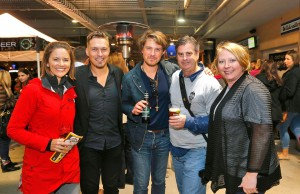 Kristin Dickerson, Isaac and Taylor Hanson, Tom Gilbert and Nicole Burgin enjoyed the suds at the 10th annual First Draft fundraiser for the Tulsa Press Club.