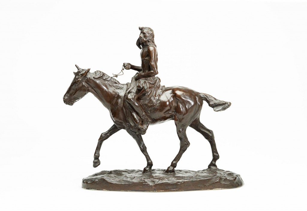 """Medicine Whip,"" bronze, by Charles M. Russell. Image courtesy Gilcrease Museum."