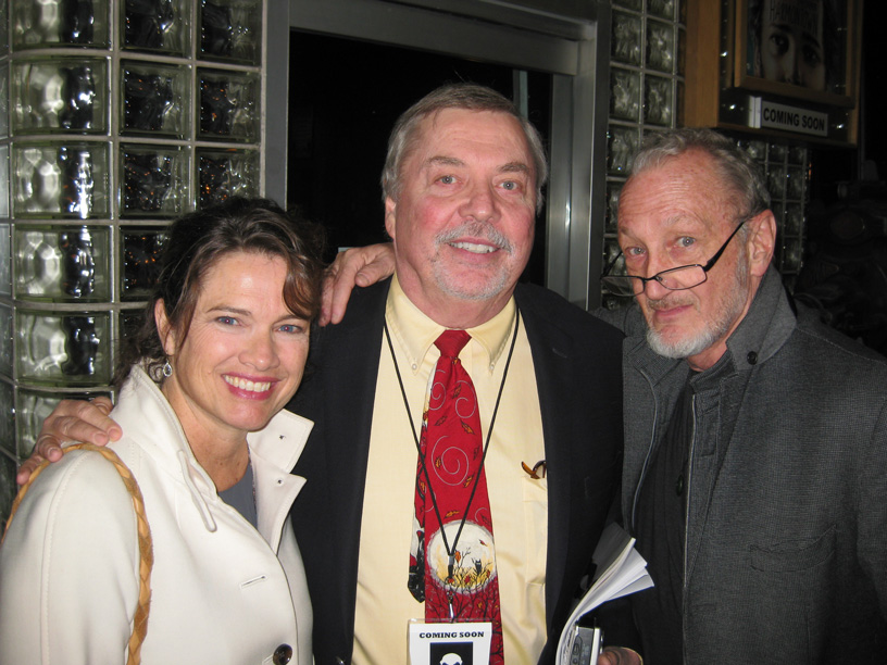 Heather Langenkamp (from left), John Wooley and actor Robert Englund met up at the Circle Cinema screening of the movie in November. Photo courtesy circle cinema.