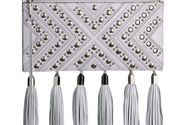 Rebecca Minkoff studded leather clutch, $445, Saks Fifth Avenue.