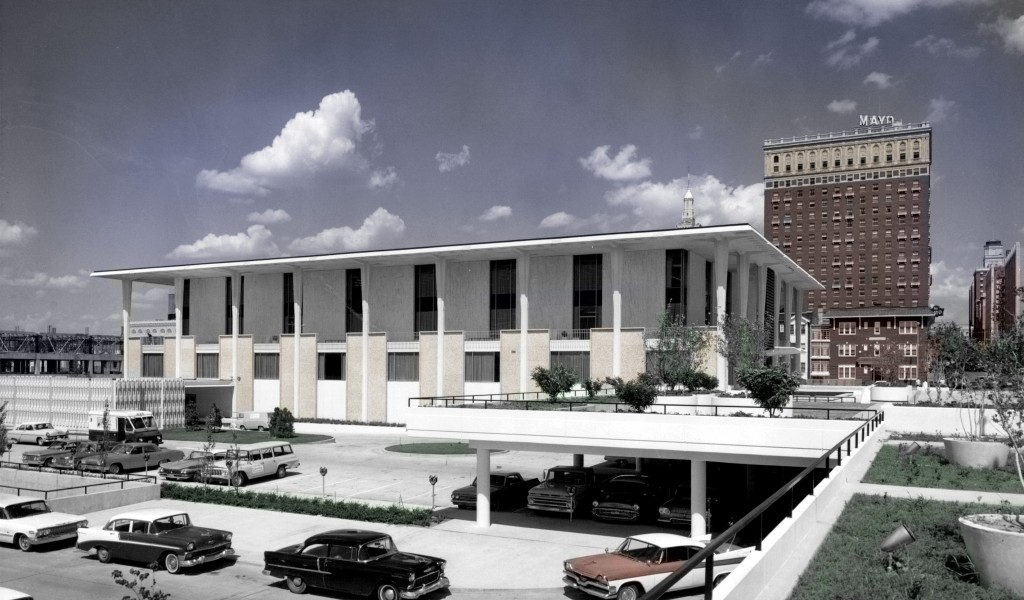 The Central Library in downtown Tulsa opened 50 years ago. Photo courtesy Tulsa City-County Library.