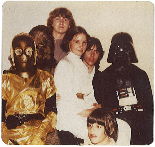The Tulsa Star Wars crew, with Shelly Creel as Princess Leia.