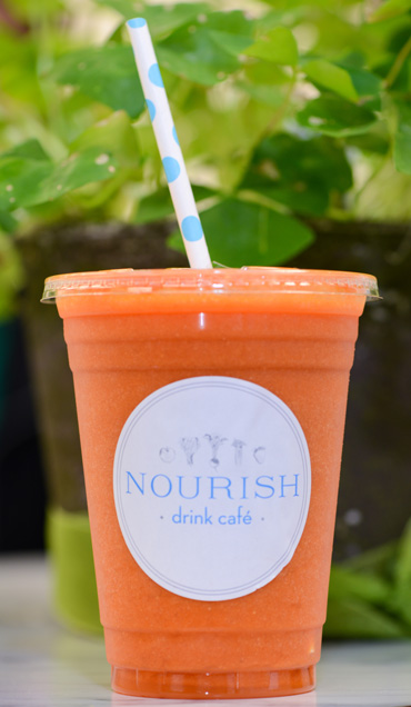 Nourish Drink Café's offerings include fresh and bottled smoothies. Photo by Natalie Green.