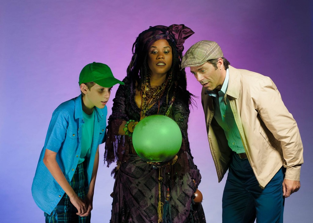 George Schroeder as Young Will, Eleasha Gamble as the Witch, and David Elder as Edward Bloom. Photo by KO Rinearson.
