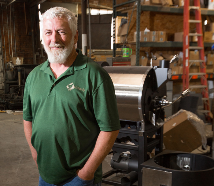 Dan Joliff grew up surrounded by the coffee business. He now builds roasters in his Oklahoma City business. Photo by Brent Fuchs.
