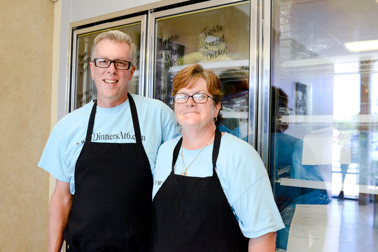 Mike AND Bridgette Skow, owners of Dinner's At 6, created their business when they needed a service they couldn't find.  Photos BY Natalie Green.