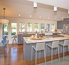 The existing kitchen was discarded, and Sparkman and Tulsa builder David Trebilcock redesigned the space to include a 10-foot island.