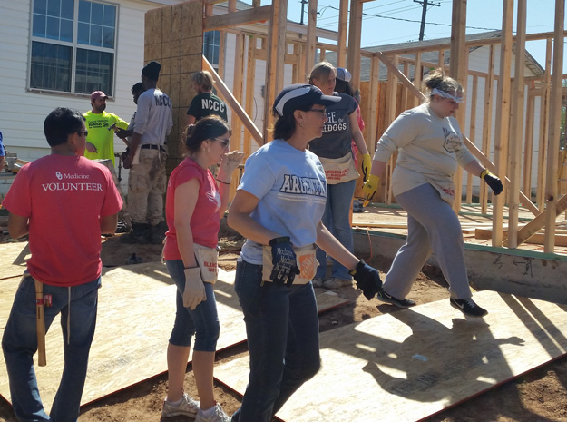 OU Physicians employees volunteer for Habitat for Humanity.