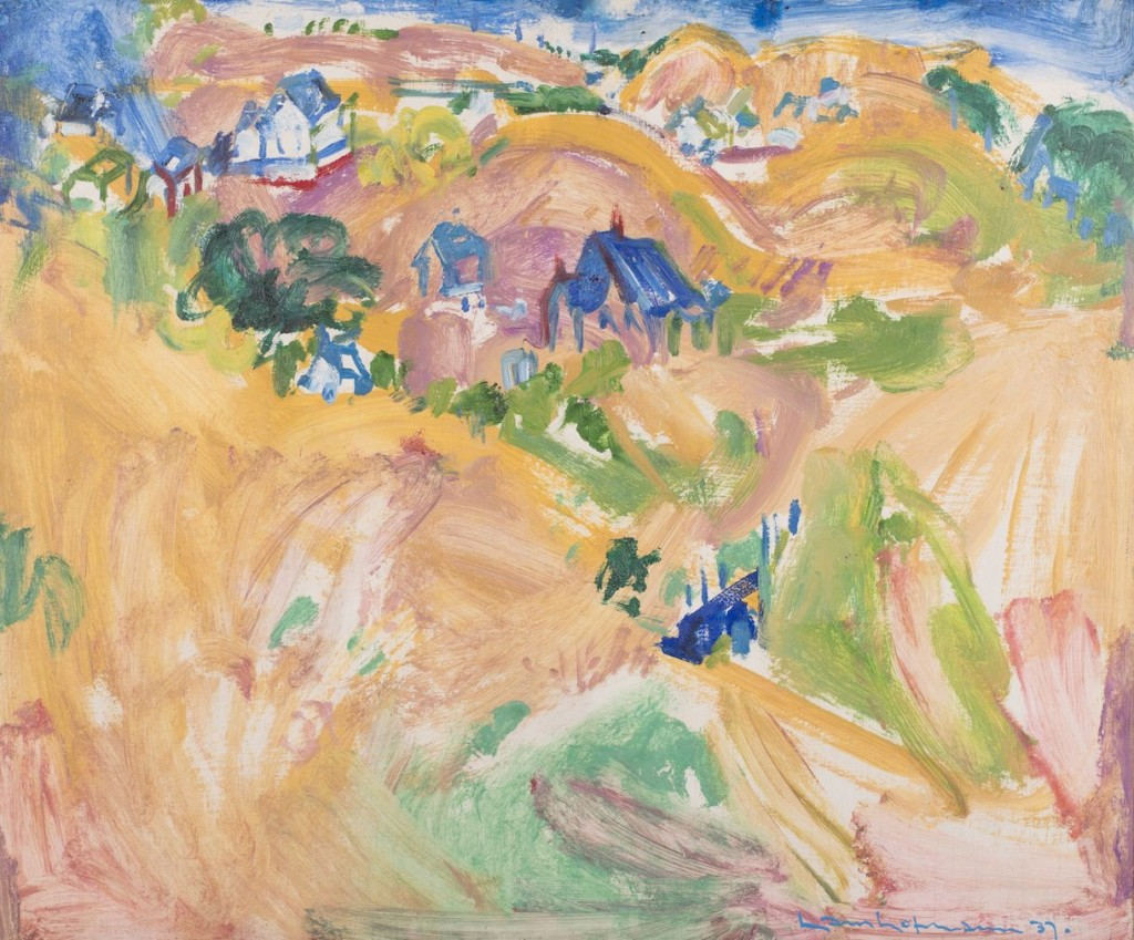 Hans Hofmann (American, born Germany, 1880–1966). Provincetown Number One, 1937. Oil on board. Oklahoma City Museum of Art. Museum purchase from the Beaux Arts Society Fund for Acquisitions, 1976.005, © 2015 Estate of Hans Hofmann / Artists Rights Society (ARS), New York