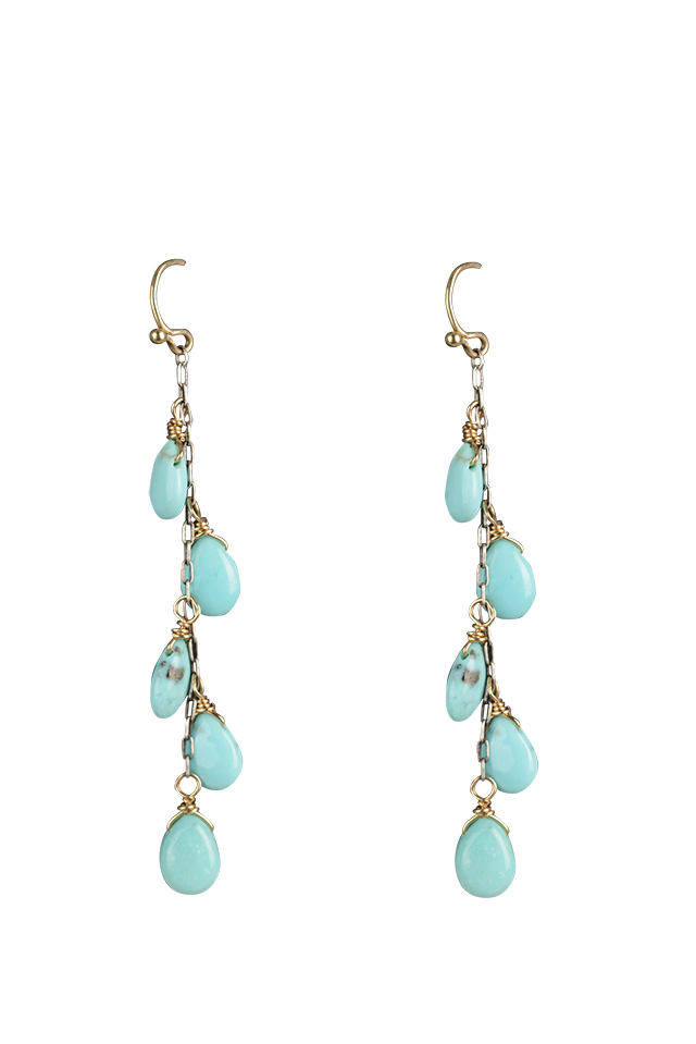 REBECCA LANKFORD TURQUOISE EARRING, $388, ABERSONS.
