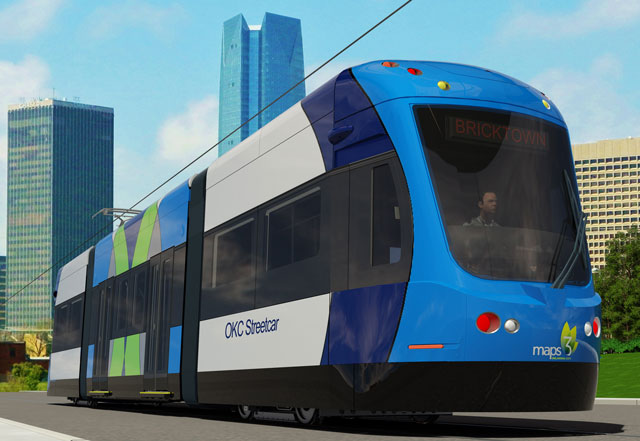 concept art for the oklahoma city street car shows what will be available for oklahoma city residents in coming years. the project is scheduled to start construction in september and finish in the fall of 2018. Photo courtesy maps okc
