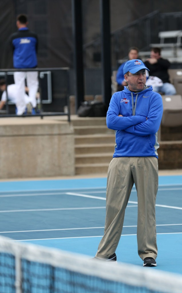 Vince Westbrook, head men's tennis coach, has 25 years of coaching experience with The University of Tulsa. Photo courtesy The University of Tulsa.