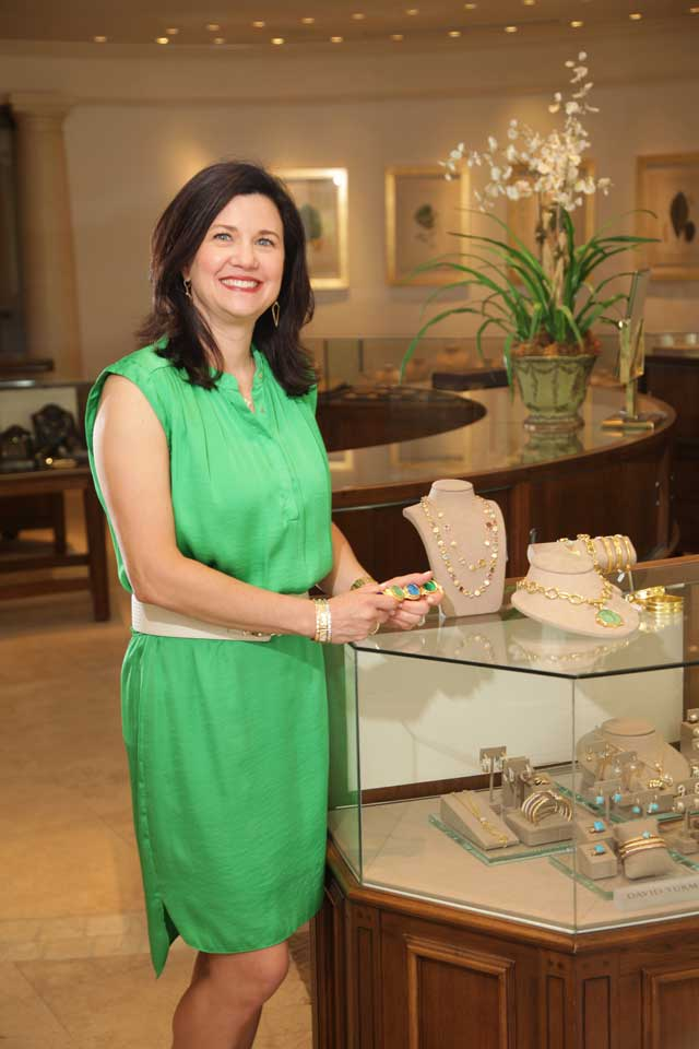 Michelle Holdgrafer of Bruce G. Weber Precious Jewels, Best Fine Jewelry Store (Tulsa). Photo by Marc Rains.