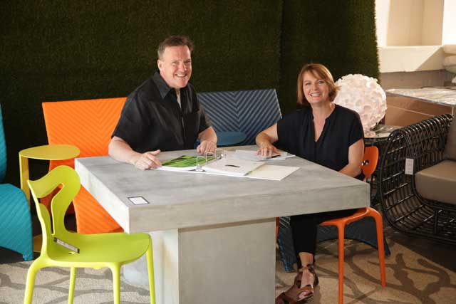 Derek Bennett and Lori Sparkman, owners of Fifteenth and Home, Best Designer Home Furnishings (Tulsa). Photo by Marc Rains.