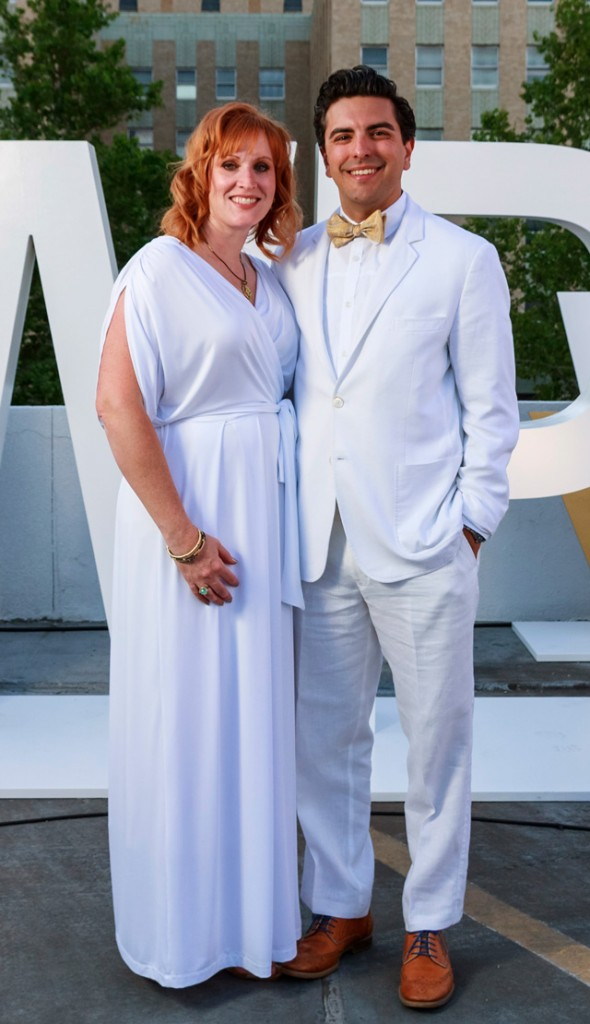 Jenny and Josh Roby, White Party, Family and Children's Services.
