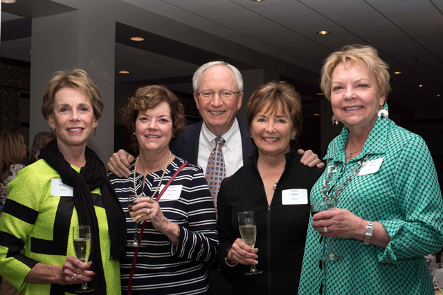 Leslie Moore, Donna Vanderslice, James and Mary Magee, Becky Young, Iron Gate Founder's Dinner, Iron Gate.