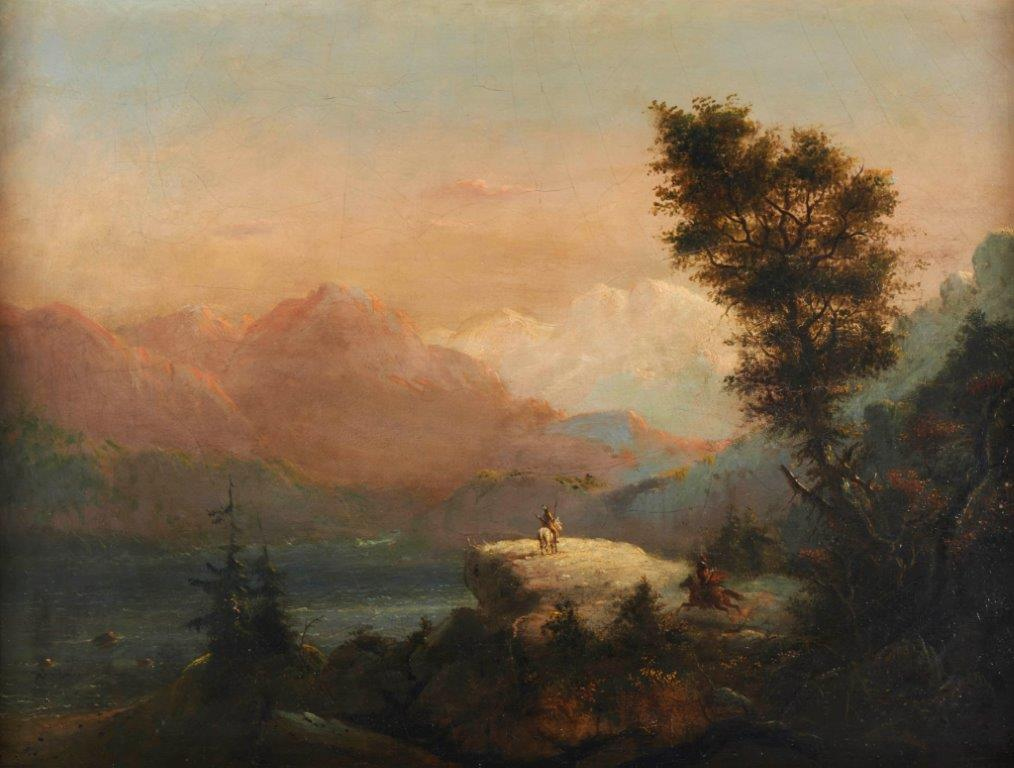 Art by Alfred Jacob Miller, The Lookout, courtesy Gilcrease Museum.