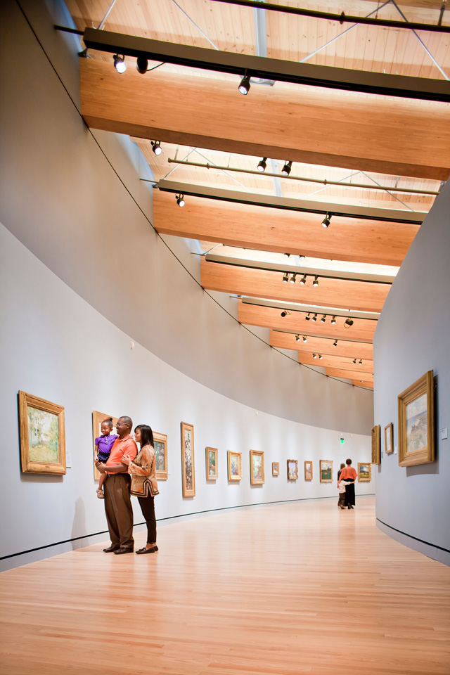 Crystal Bridges Museum of American Art uses its own unique architecture to enhance the artistic experience of the guests. Photo courtesy Crystal Bridges Museum of American Art.