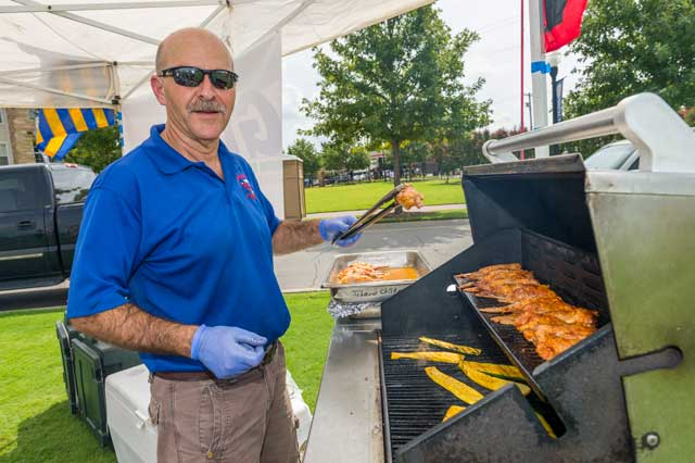 Delicious food and fun games are only two of many activities that define the tailgating tradition at TU. Photo by Erik Campos, courtesy the University of Tulsa.