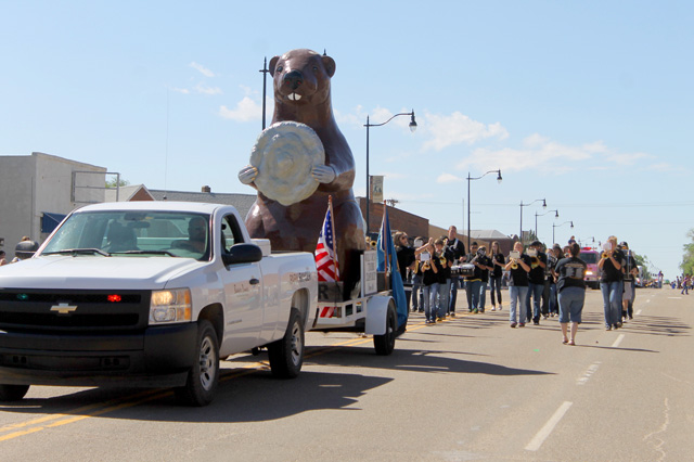 The World Cow Chip Throwing Contest in Beaver includes multiple events, including a parade. Photo courtesy Beaver Chamber of Commerce