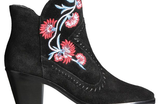Rebecca Minkoff embroidered bootie, $225, Saks Fifth Avenue.
