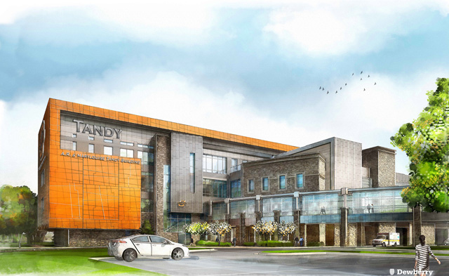 The A.R. and Marylouise Tandy Medical Academic Building is expected to be completed next year.