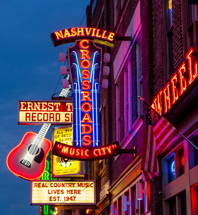 Music Row and the Grand Ole Opry help to define Nashville.