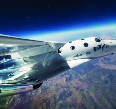 Virgin Galactic is planning to offer flights into space, although no launch date has been set. Photo courtesy Virgin Galactic