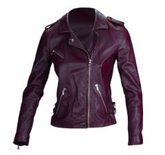 Rebecca Taylor washed leather jacket in sugar beet, $895, Saks Fifth Avenue.