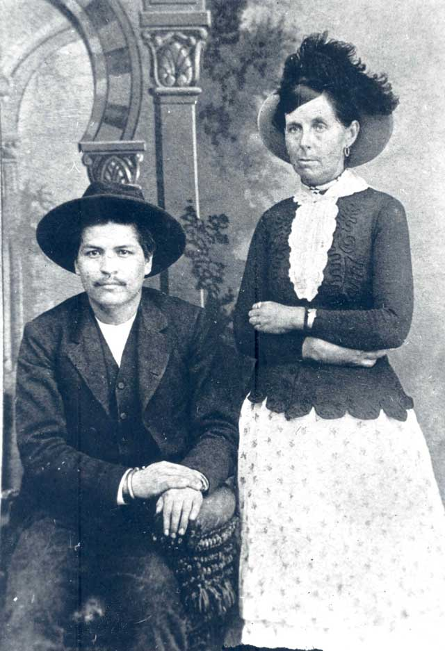 Blue duck and Belle Starr Frederick S. Barde Collection, courtesy Oklahoma Historical Society, #4631.